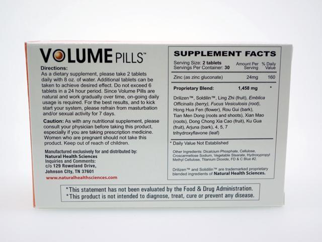 Semenax vs Volume Pills vs Viasil  Ingredients